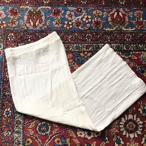 Vtg 90s pleated maxi skirt M crinkle maxi boho